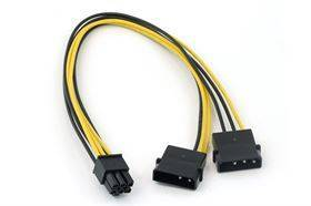 Cable adapter - 4 pin to 6 pin PCI-E