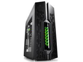 Deepcool GENOME II ATX Kabinet with built-in watercooling - Black/Green